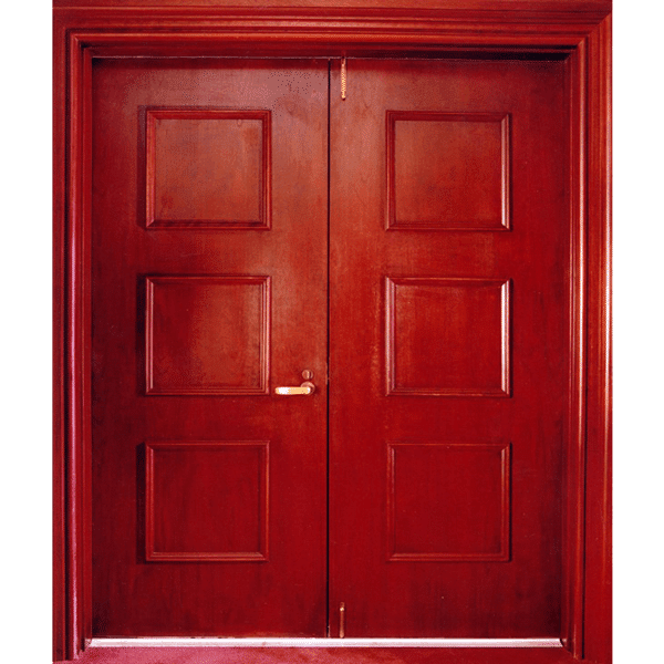 Acoustic Wood Raised Panel Door & Steel Frame